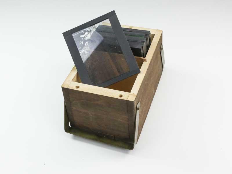 Boîte de plaques photographiques