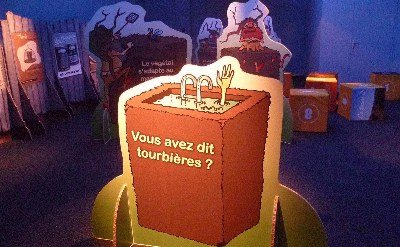 """© Pavillon des sciences de Montbéliard - Exposition """"Voyage au pays des Tourbières"""""""